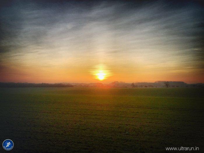 Stunning sunset across the Norfolk skyline