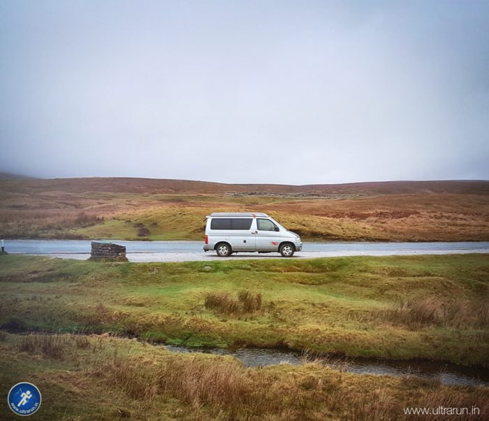 The sanctuary of John's Camper Van on The Pennine Way