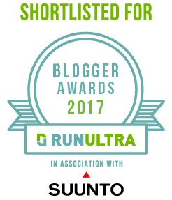 Shortlisted for RunUltra Blogger of the Year 2017