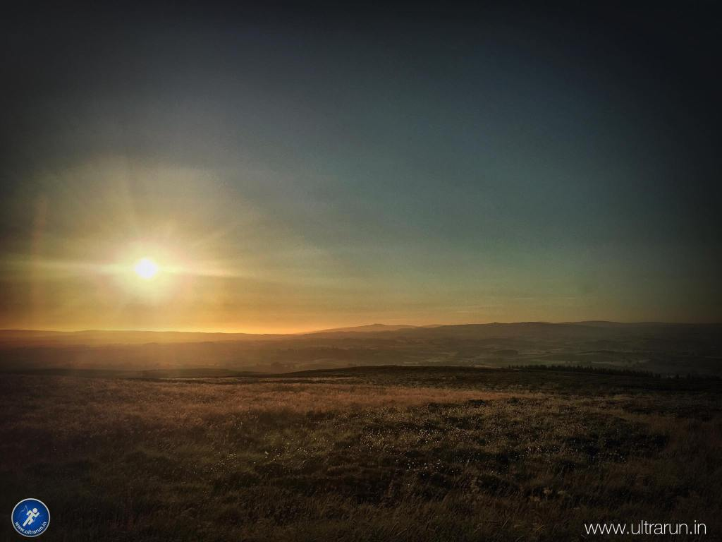 A great end to a great day, sunset over Ingleborough