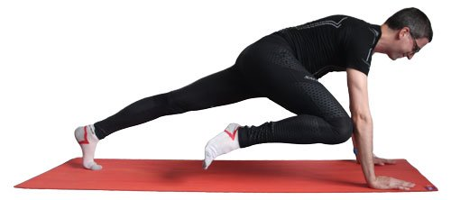 Core exercise: Twisted knee plank