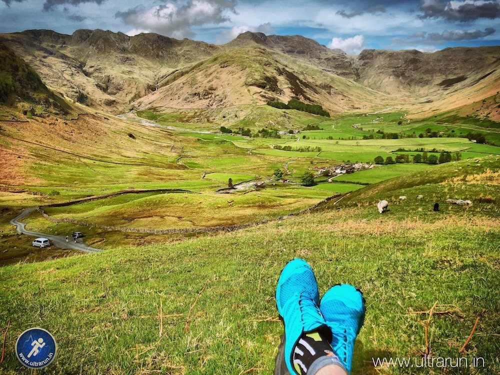 Inov-8 Trailtalon 250, taking a well earned break, while testing in The Langdale Valley