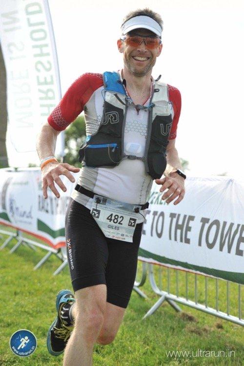 Giles Finishing The 2018 HEINEKEN Race to the Tower