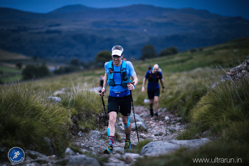 Giles Climbing Away from Checkpoint 2, towards Burnmoor Tarn and Wasdale