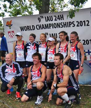 Team GB at the World & European 24 hour Championships in Katowice, Poland 2012