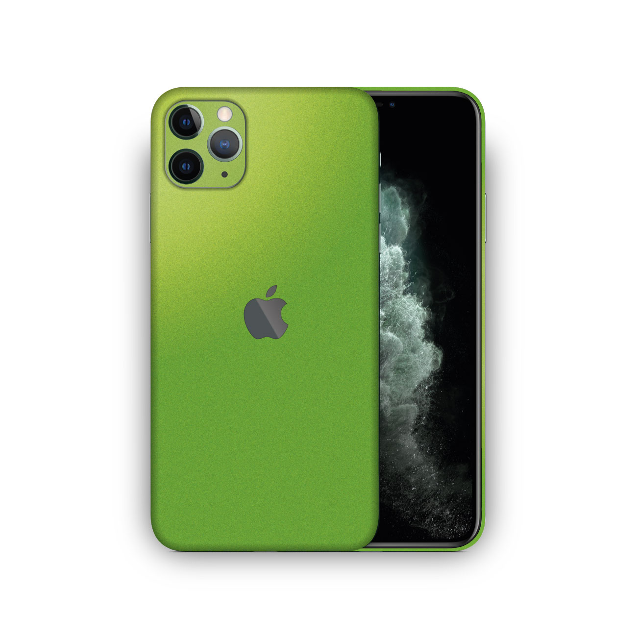Apple iPhone 11 Pro Max Viper Green Metallic Matte Skin Vinyl Wrap
