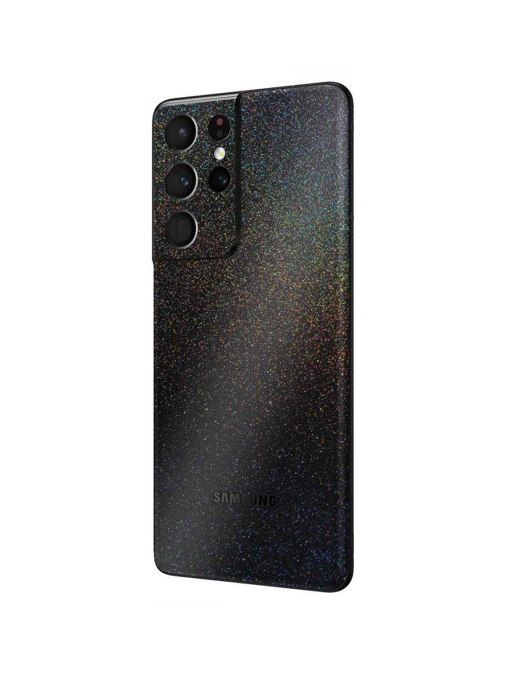 Gloss Cosmic Morpheus Black Skin Wrap for Samsung Galaxy S21 Ultra