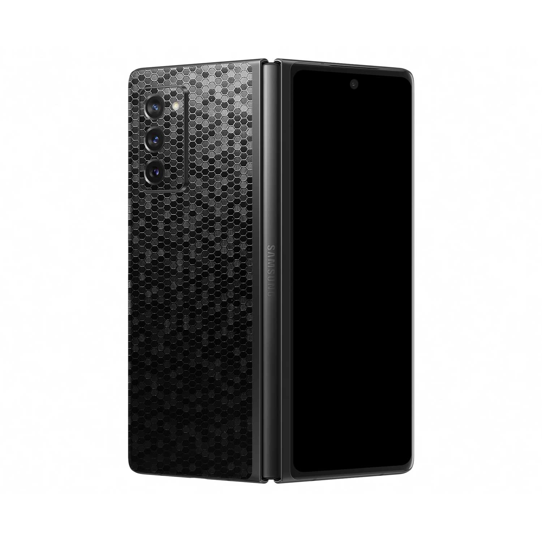 3D Textured Black Honeycomb Skin for Samsung Galaxy Z Fold2