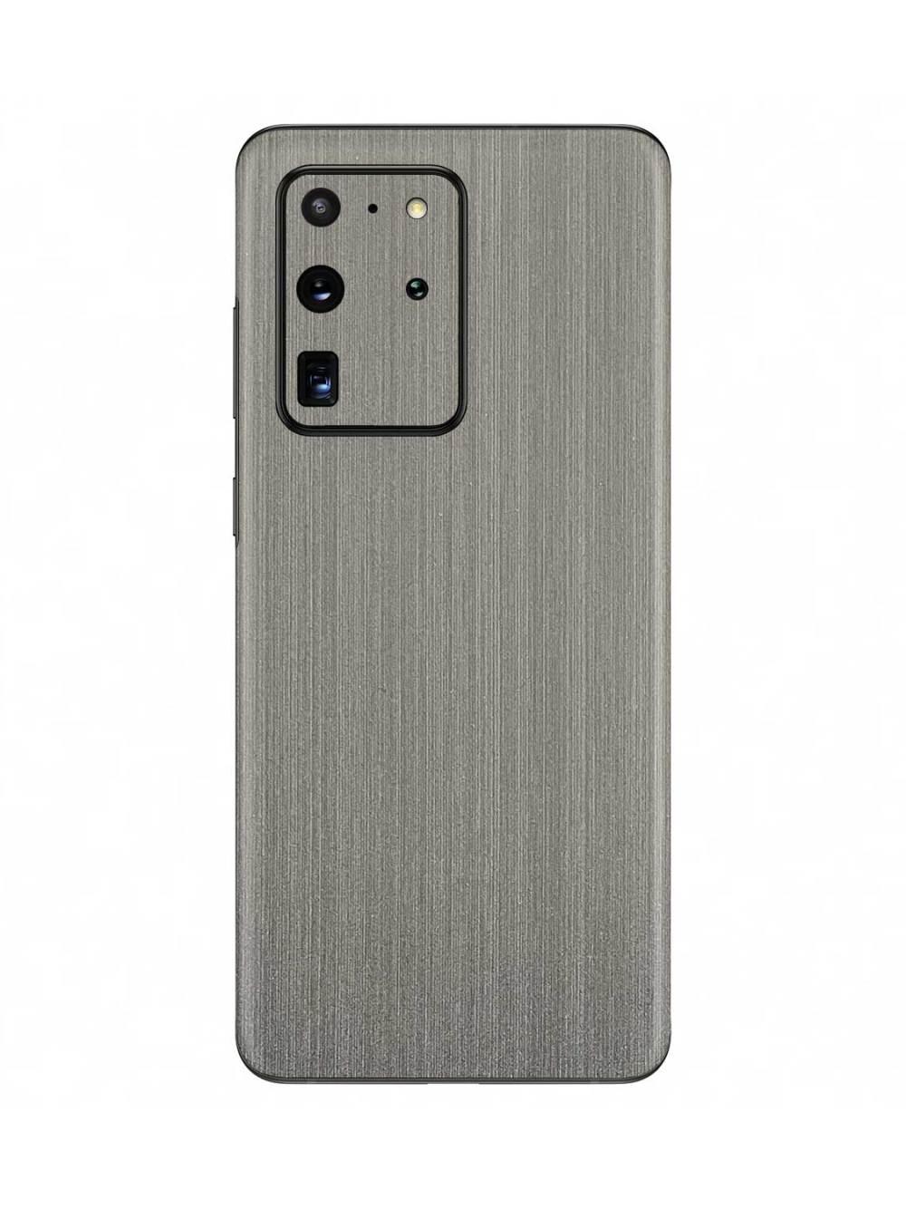 Brushed Silver Metallic skin for Samsung Galaxy S20 Ultra