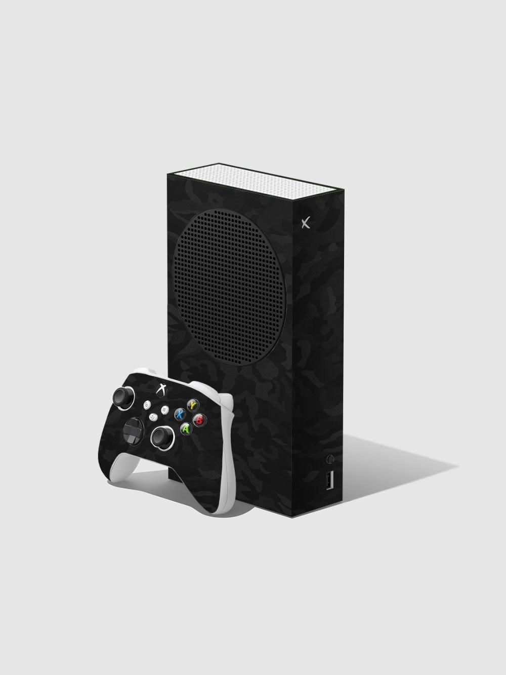 Black Camo Xbox Series S Console and Controller Skin Wrap