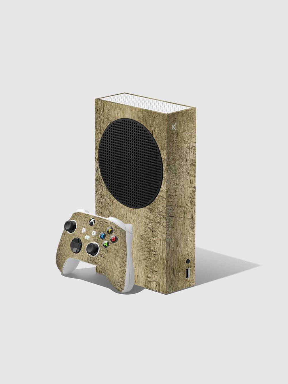 Oak Xbox Series S Console and Controller Skin Wrap