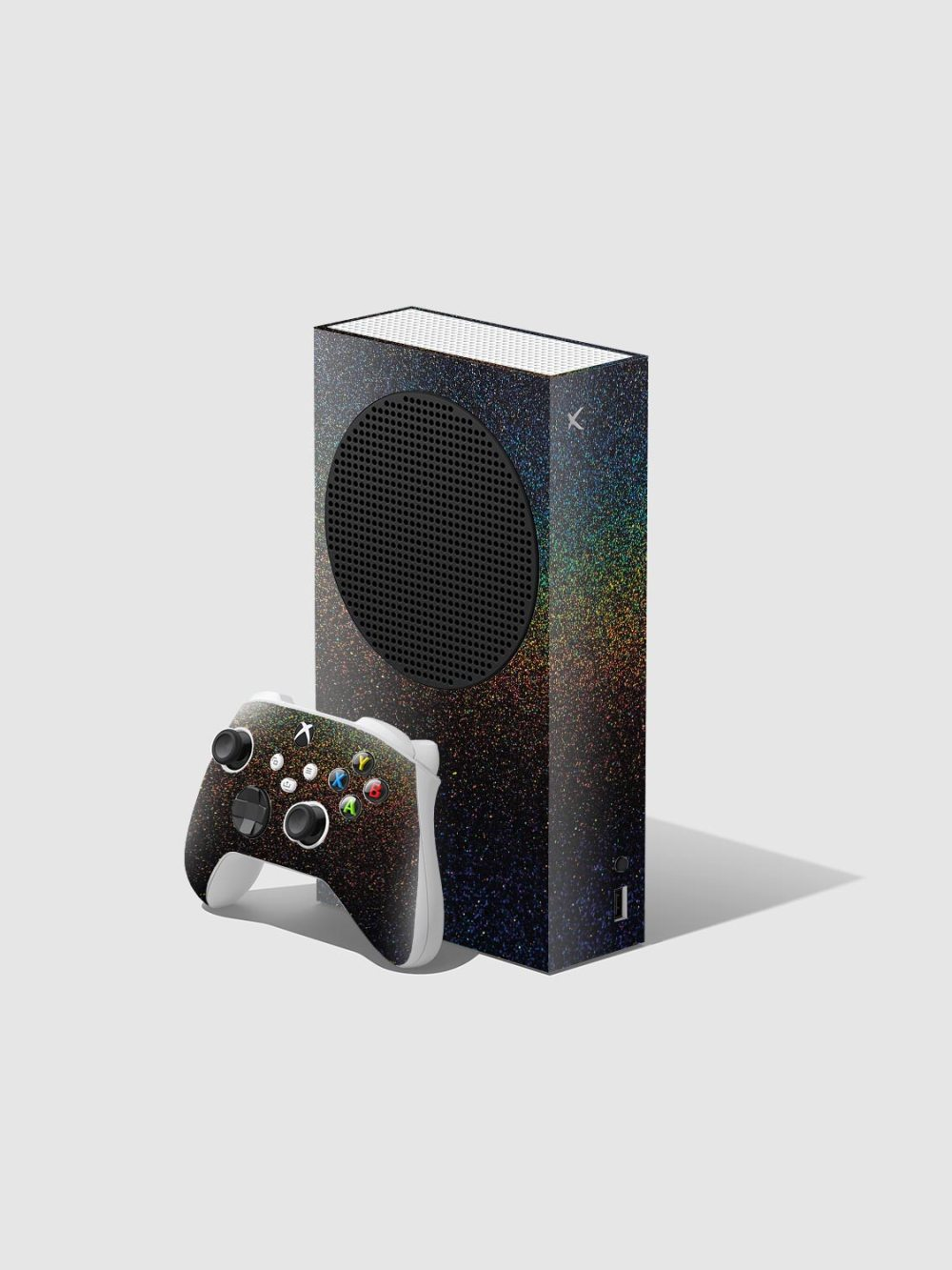 Glossy Cosmic Morpheus Xbox Series S Console and Controller Skin Wrap