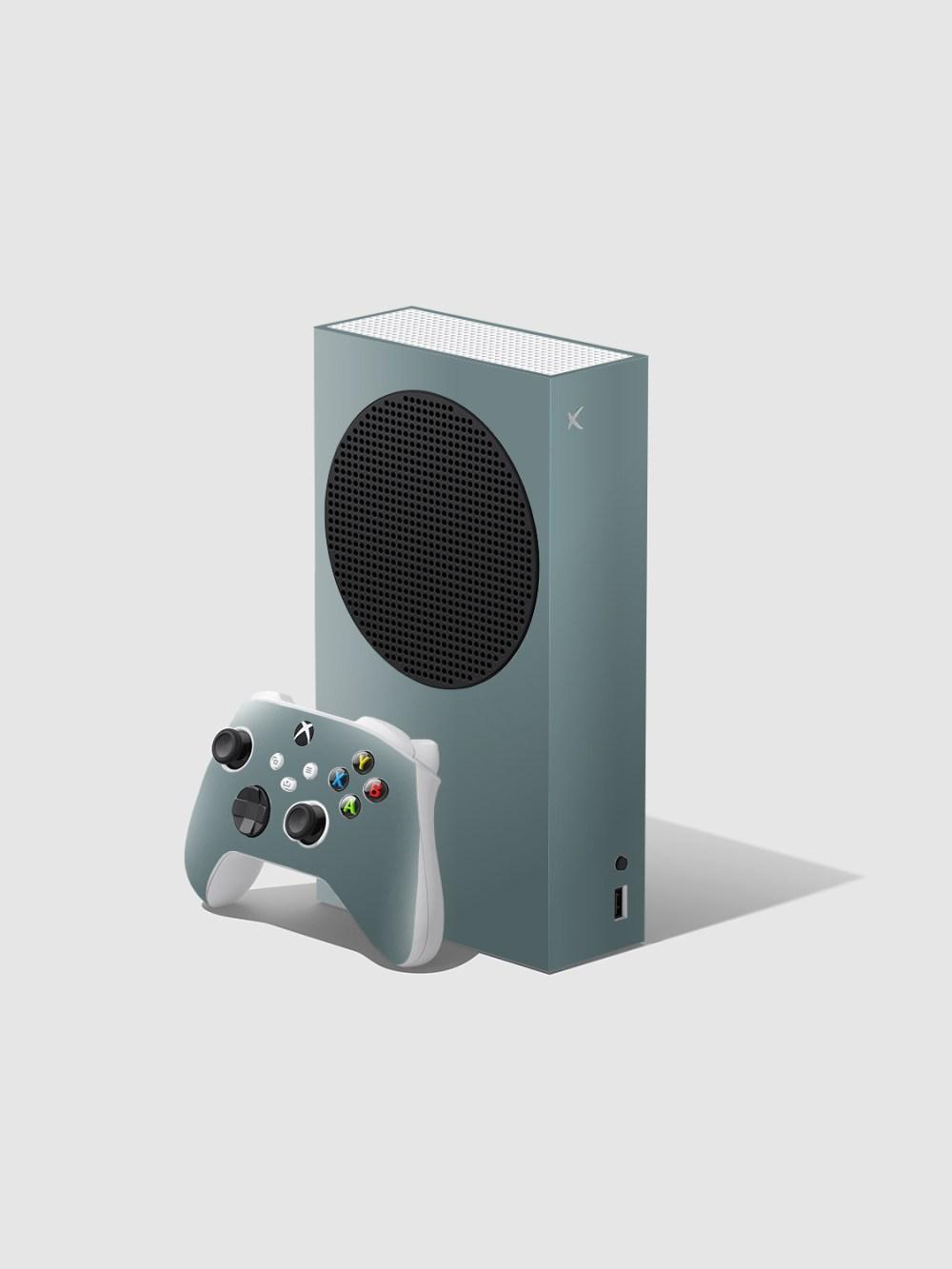Gloss Nardo Grey Xbox Series S Console and Controller Skin Wrap