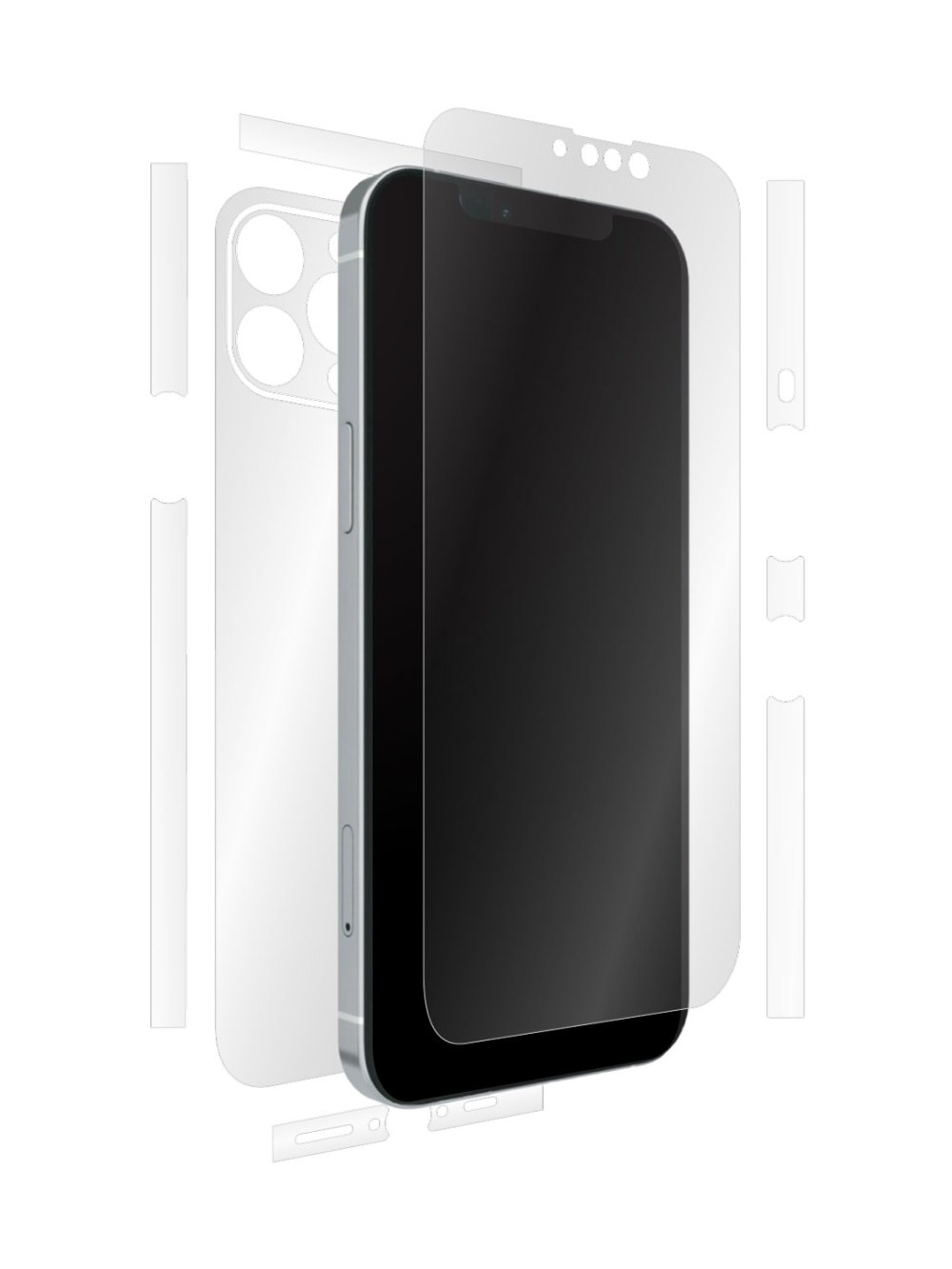 Full-body clear skin for iPhone 13