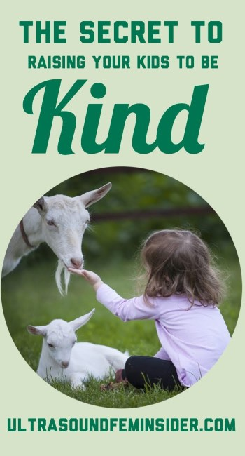 pinnable image related to the post topic, how to raise your children to be kind.