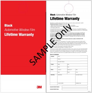 3M Window Tinting Warranty