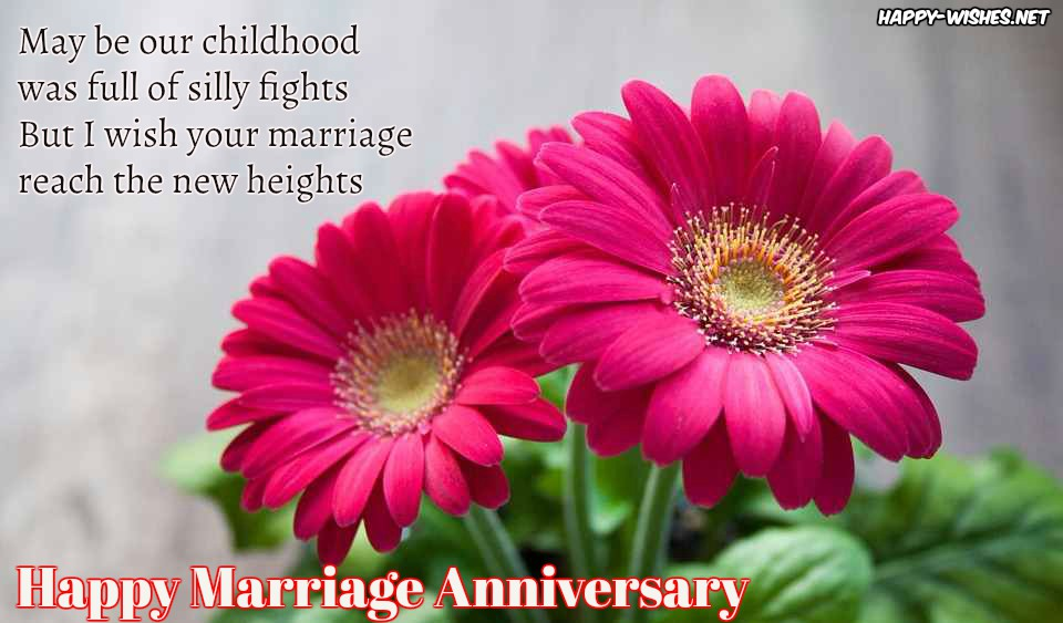 Happy Marriage Anniversary Wishes For Sister Ultra Wishes