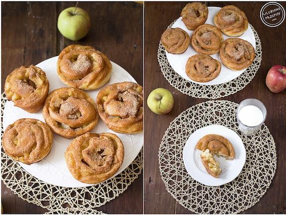 Pączki z jabłkami