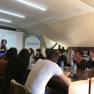 Uluchay delivered the personal finance management training to young people