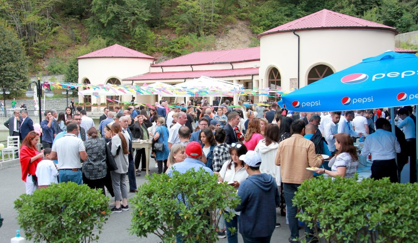 Regional traditional foods and agriculture products from the Sheki-Zagatala region  presented to guests