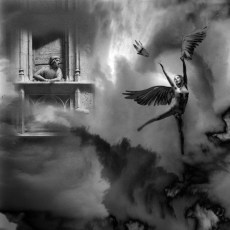 Te vi... Caer en los abismos,en el vacío, con una lámpara.Te ví desaparecer, hundirte en el océano oscuro,sin miedos.Esa luz, la sigo soñando,es tu voz, tu risa, tu espíritu caído,la recuperación de tu alma encendida,entre tinieblas y cortinas de plata.