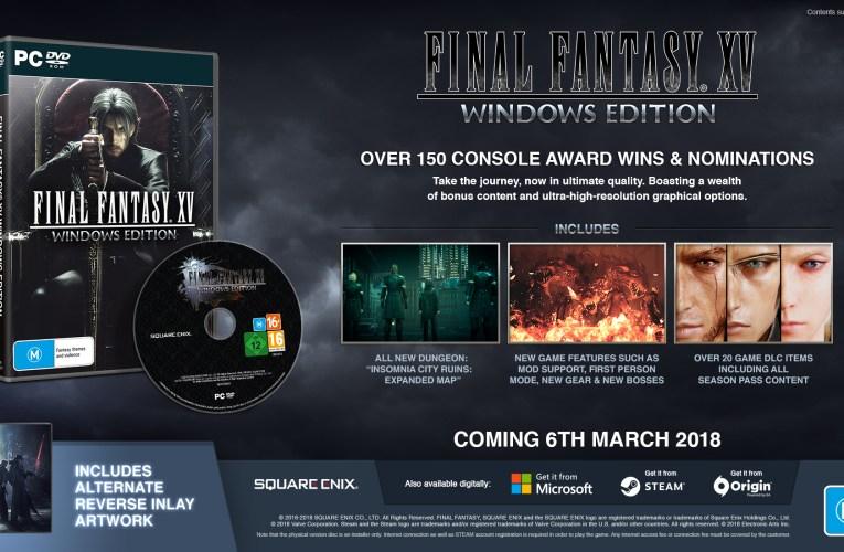 Final Fantasy XV Windows Edition pre-orders are live