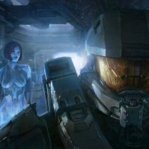 Cortana and chief halo