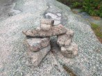 A cairn marks the way