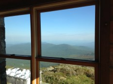 View from Lakes of the Clouds Hut windows.