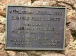 Plaque at Garfield Ridge Campsite