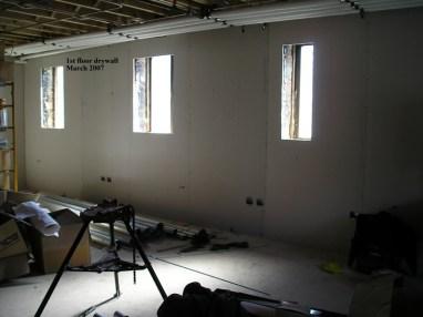 1st floor drywall