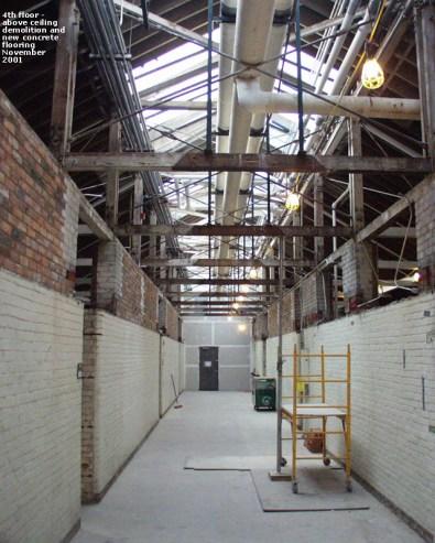 200111 - 4th floor - above ceiling demo new concrete flooring