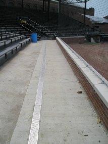 Concrete behind backstop