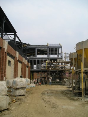 E stair tower from S