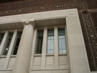Front windows being restored