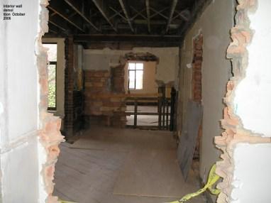 Interior wall demo