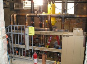Mechanical room piping