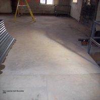 New concrete slab