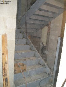 New egress stair
