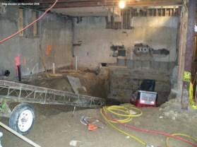 New elevator pit