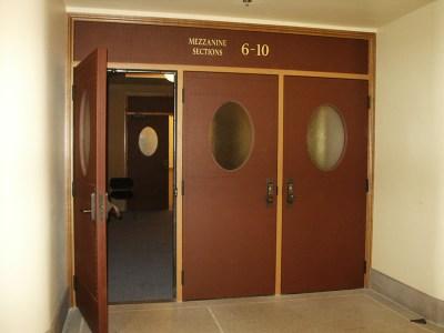 New Leather Doors at Mezzanine Level