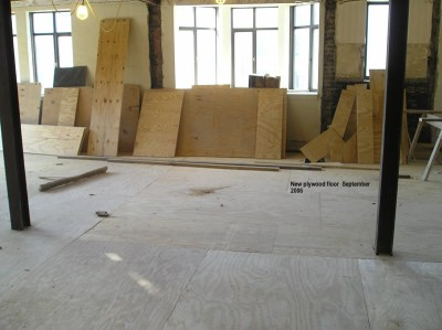 New plywood floor