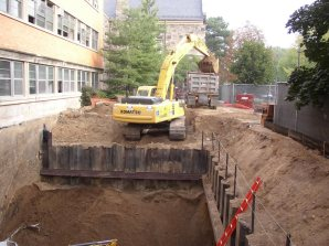 September 2004 - Areaway excavation