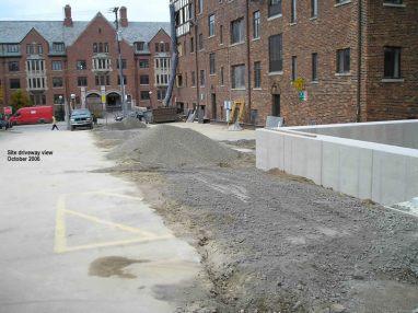 Site driveway view