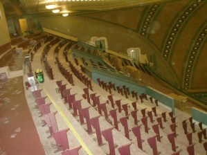 Frames for seats begin to go in at Balcony Level