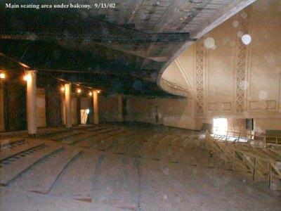 Main seating area under balcony