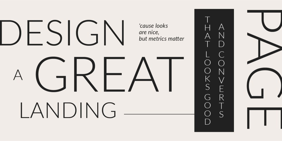 How to design a great landing page