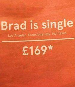 Lmao. brilliant idea. :D #funny #advertising #bradpitt #brangelina #split