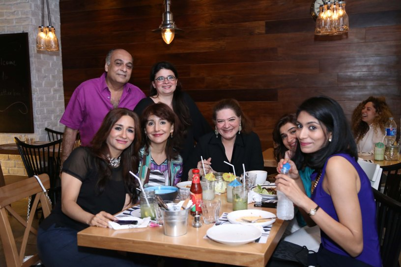 Naila Naqvi with friends