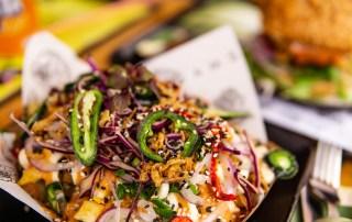 Amsterdam vegan essen Vegan Junk Food Bar Loaded Fries